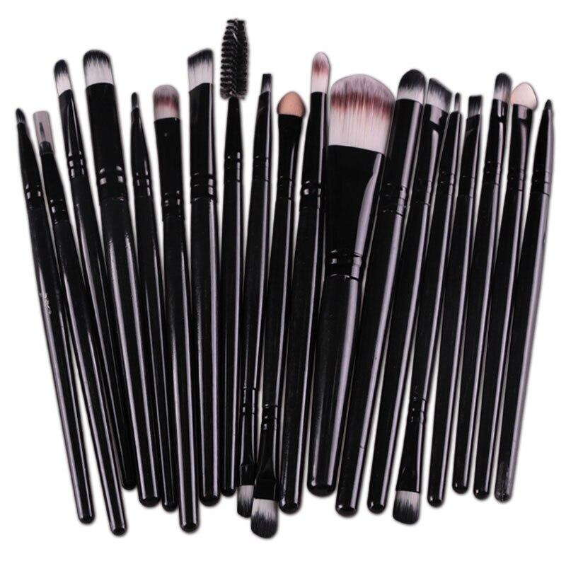20pcs Eyes Brushes Set Eyeshadow Eyebrow Eyelashes Eyeliner Lip Makeup Brush Sponge Smudge Brush Cosmetic pincel maquiagem (10)