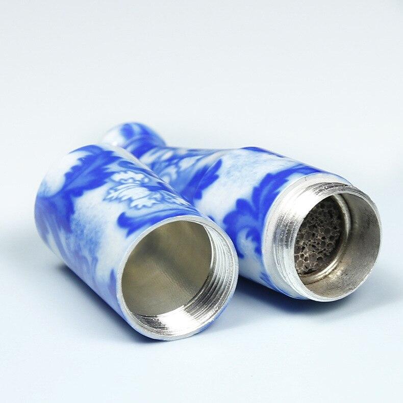 30 teile/los hochwertige keramik rohr 78mm länge persönlichkeit blauen und weißen porzellan pfeife als zigarette grinder werkzeug-in Tabakpfeifen & Zubehör aus Heim und Garten bei  Gruppe 3