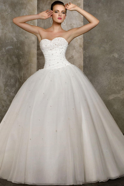 Free Shippingball Gown Sweetheart Chapel Tulle W110319040 Wedding Dresses Gowns Prom Celebrity Homecoming