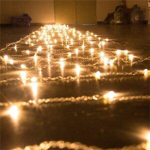 Image 3 - Novo 10x1 m 448 led ao ar livre cortina de luz da corda natal festa de natal fada casamento led cortina de luz 220v 110v eua au plugue da ue