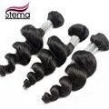 Produtos de cabelo STEMA cabelo Remy malaio pacotes 3 pçs/lote malásia virgem cabelo solto onda tecer fio de cabelo granéis