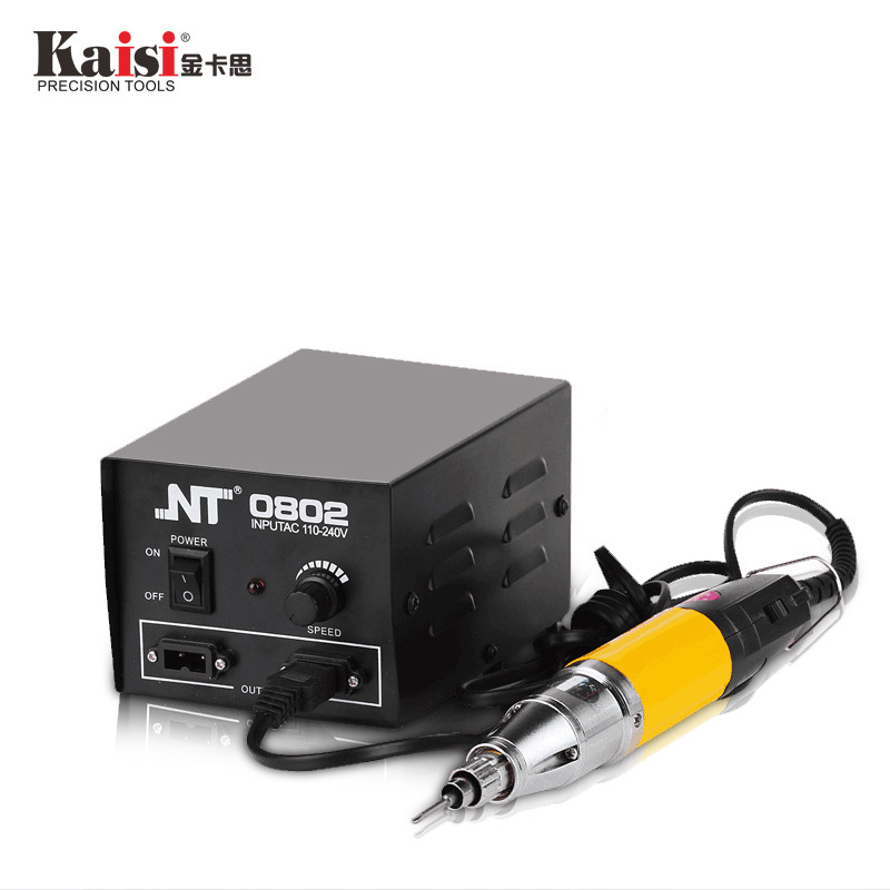 цена на kaisi High Power NT-0802 DC Powered Electric Screwdriver 800 + Small Power Supply Rechargeable electric screwdriver kit