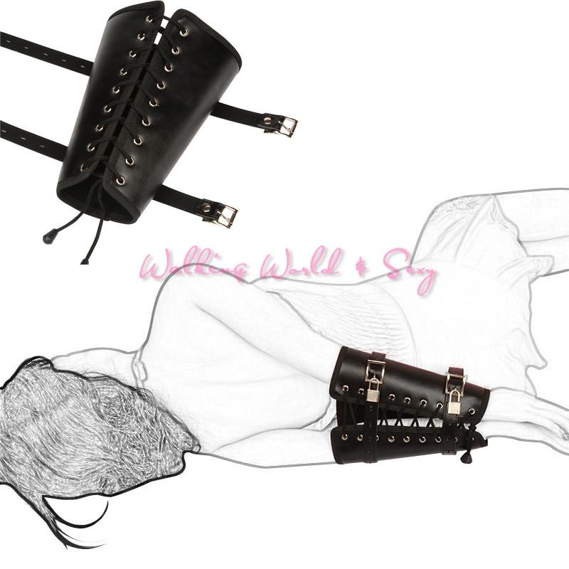 Adult Game Pu Leather One Arm Binder Glove Bondage Restraint Fetish Slave Cuff BDSM Sex Porducts For Couples Adjustable Sex Toys