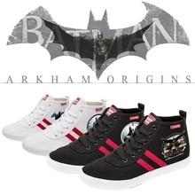 Superhero Cartoon Batman Printing Illustration High Heel Breathable Canvas Uppers Sneakers College Customized Fashion High-Tops