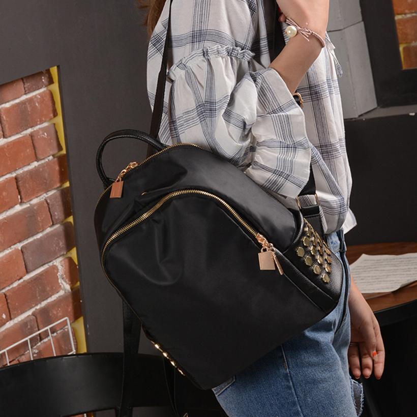 maison Backpacks high quality Leather Unisex Girls Boys fashion Rivet Backpack School Book Travel backpack women 2018MA8