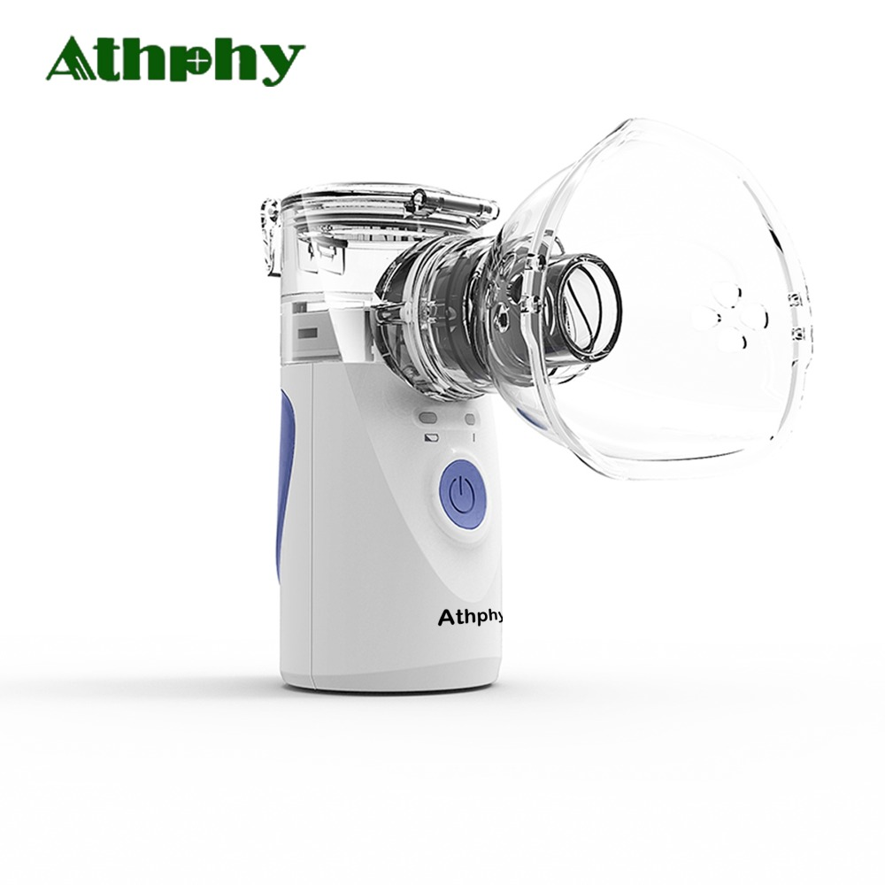 Athphy Ultrasonic Nebulizer Inhaler Handheld Portable Baby Children Adult Mini Atomizer Respirator Silent Household Humidifier ultrasonic handheld atomizer nebuliser beauty tool respirator humidifier adult kit portable automizer inhale nebulizer portable