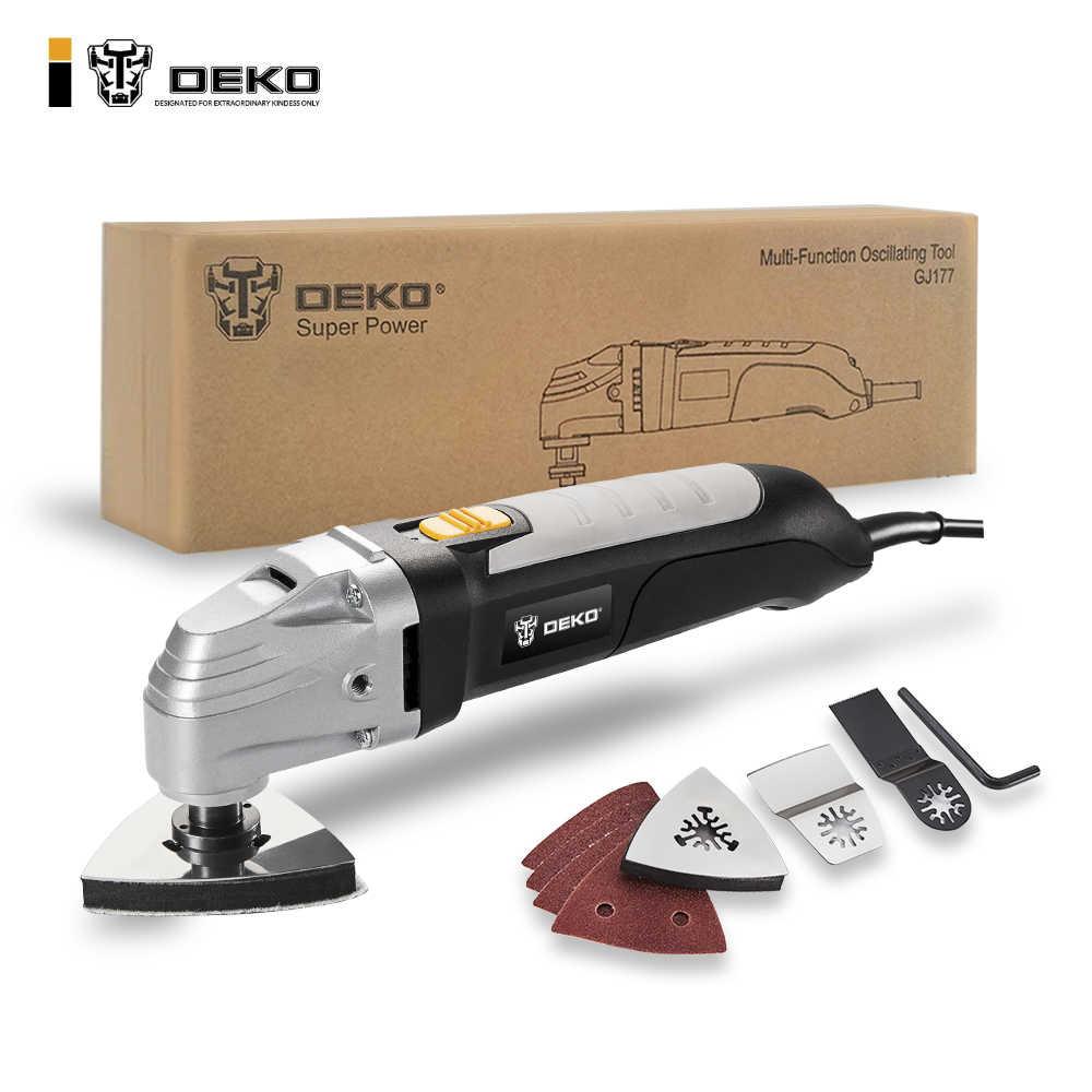 DEKO 110 V/220 V переменная скорость Электрический многофункциональный Осциллирующий набор инструментов Мульти-Инструмент Электроинструмент домашний инструмент с семью аксессуарами