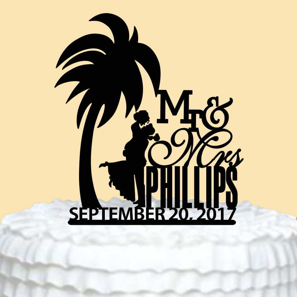 Acrylic Wedding Cake Topper,Mr Mrs Cake Topper for Wedding,Custom ...