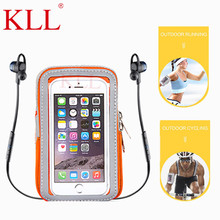 KLL Universal Waterproof Mobile phone sports armband for iphone running phone arm band brassard telephone holder arm Cases pouch
