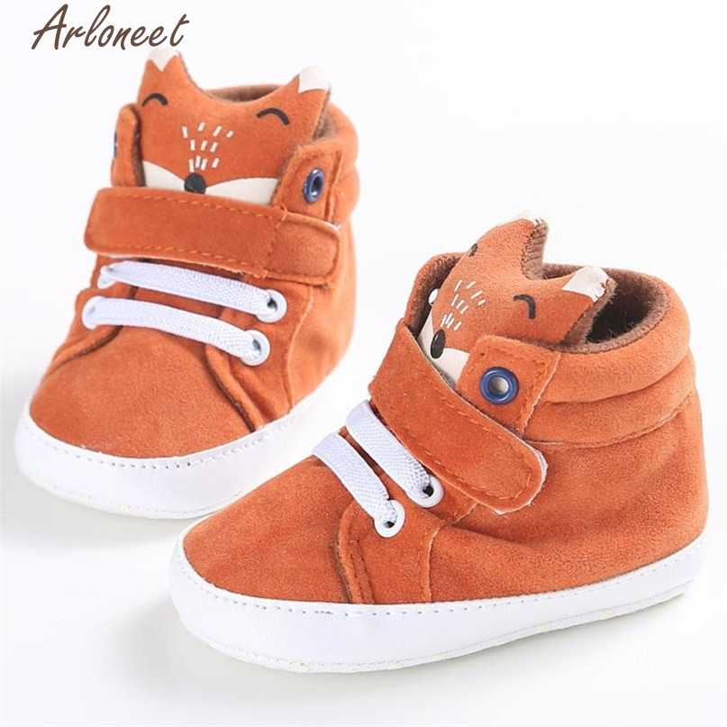 3 Colors First Walkers Baby Shoes Girl Boys Hot Toddler Fox Head Sneaker  Anti-slip fb43ceede371