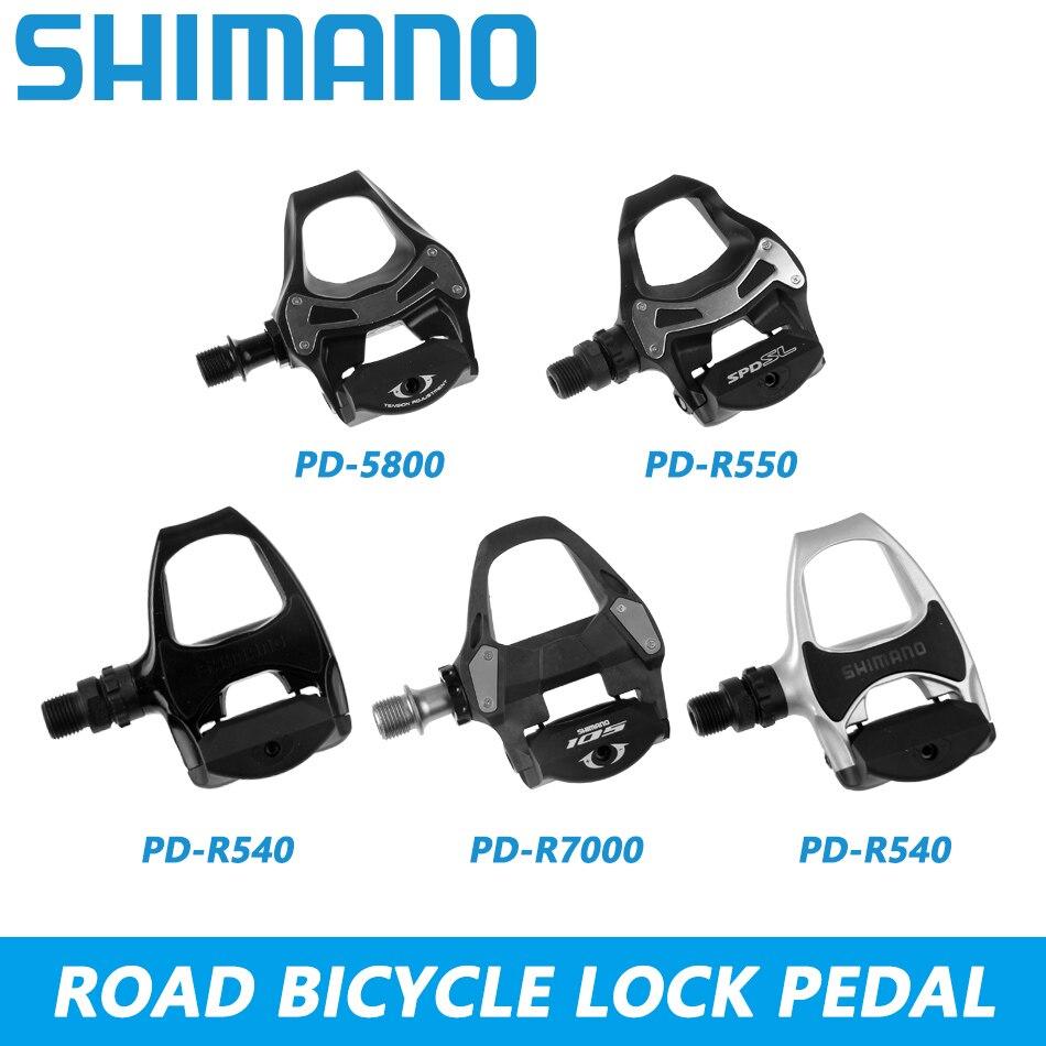 Shimano pédale PD-R540 vélo de route pédale PD-R550 auto-bloquant pédale en alliage d'aluminium pour vélo de course PD-5800 PD-R7000 pièces de vélo