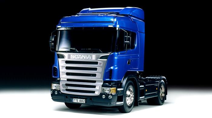 1/14 Tamiya Scania R470 Highline Tractor Truck 1 14 tamiya benz new actros tractor trailer roof antenna garnish