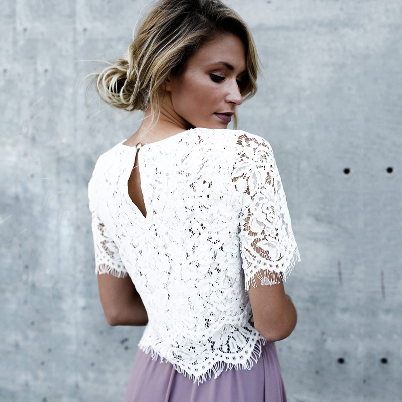 2019 Red Loose Blouse Women Short Sleeve Tops Shirt Casual Lace Tops Shirt Fashion Women Ladies Clothing Tops 18
