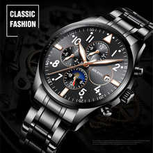 AILANG Mens Automatic Mechanical Watch Time Moon Phase Waterproof Luminous hands Casual Military Sport Watches Relogio Masculino