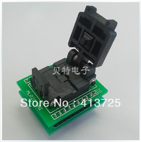 Import block QFN20 burn IC, MLP20-UNI 20QN50S14040-B to test original plcc44 to dip40 block adapter block cnv plcc mpu51 test convert burn