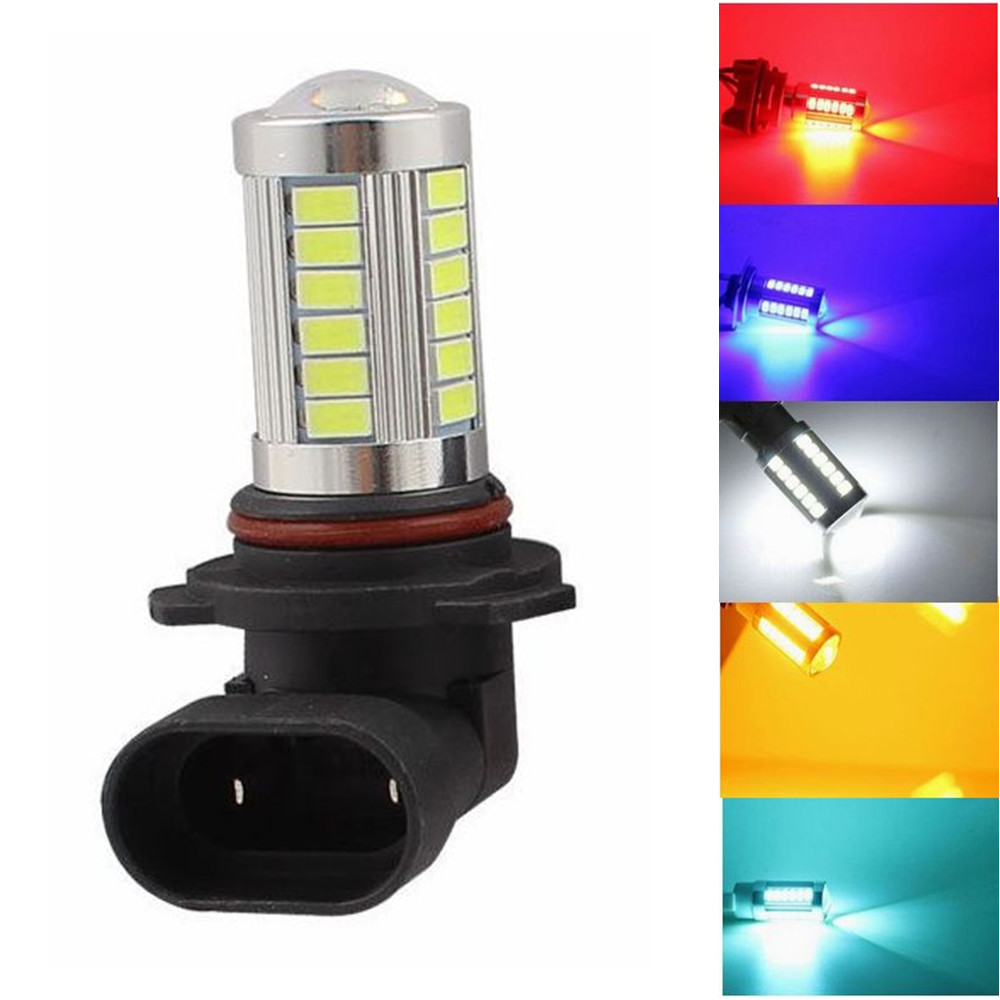 9006 HB4 66 63-LED White Red Amber Blue Car Fog Driving Light Lamp Bulb Car Vehicle 2835 For DRL 12V 24V Bright Than 33 SMD car cob led h7 bulb fog light parking lamp bulbs driving foglight 7 5w drl 2pcs amber yellow white red ice blue