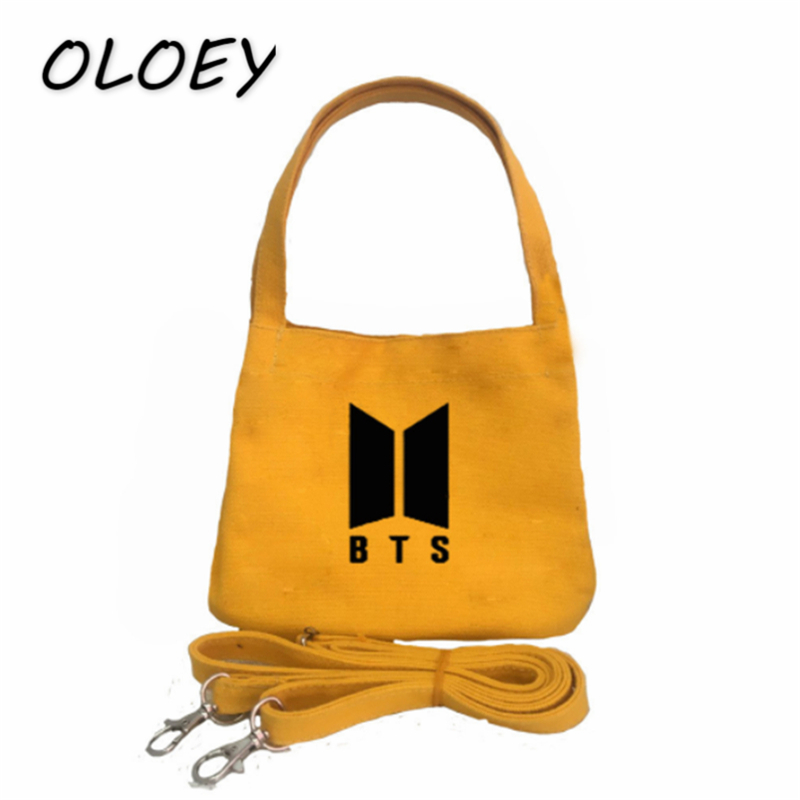BTS Tote Canvas Bag Army Korea Bangtan Boys Shoulder Bag For Teenage Girl  Student Casual Shopping Bag Fans Collections -in Top-Handle Bags from  Luggage ... 21f62a6d209be
