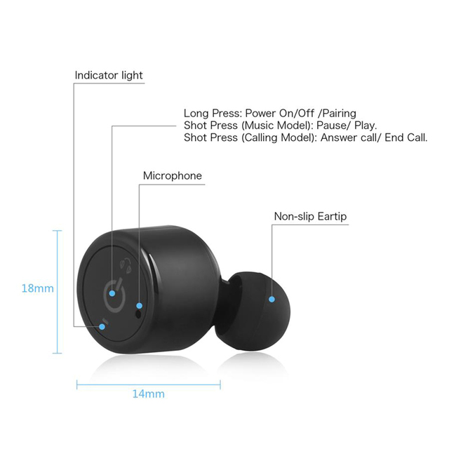 Mini Twins Wireless Bluetooth Stereo Earphones