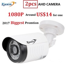 2PCS Zjuxin ahd camera 1080p 5*24 LED ahd 2mp camera with HD 3.6mm 1080p ahd camera lens and hd security CCTV Cam for you