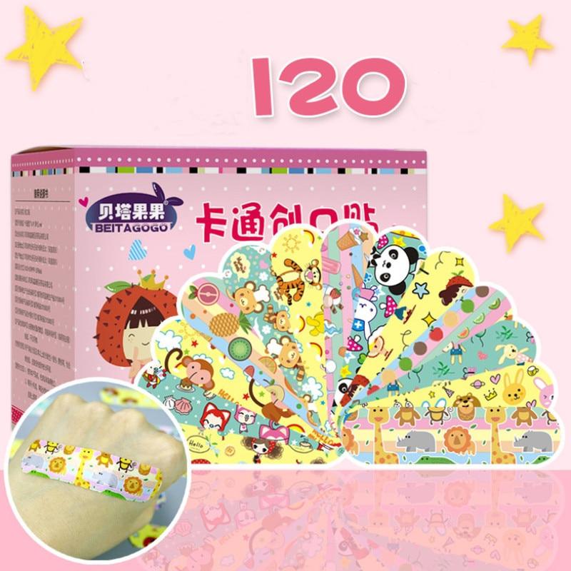 120Pcs Cartoon Waterproof Bandage Band-Aid Hemostatic Adhesive For Kids Children  Wound Bandage  Wound Bandage  Band Aid