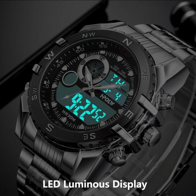 Luxury Brand Men Military Sport Watches Men's Quartz LED Chronos Analog Clock Male Digital Wrist Watch Relogio Masculino