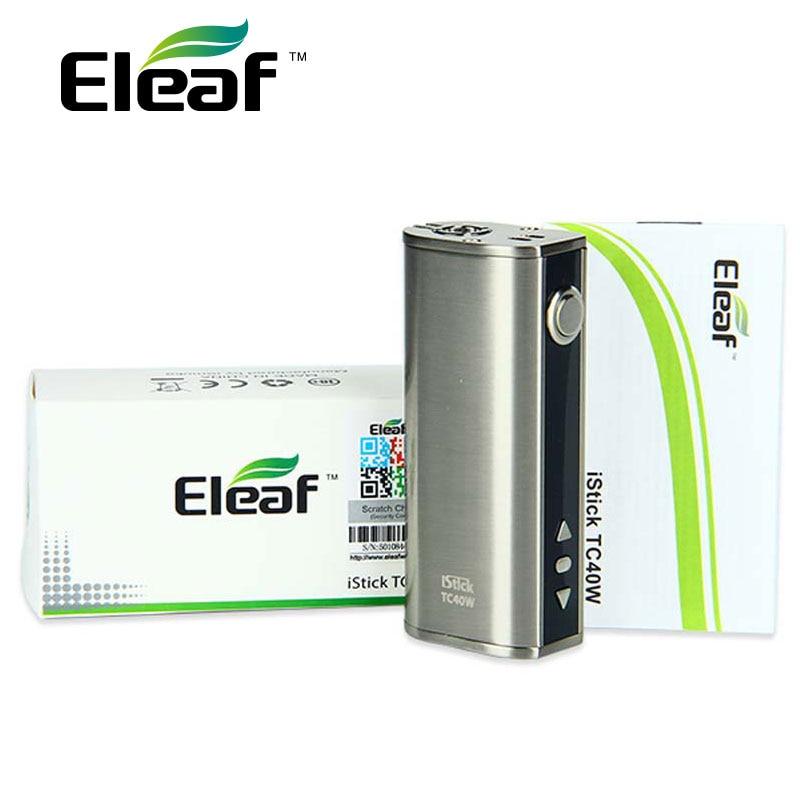Eleaf iStick E Sigaretta MOD TC 40 W Scatola originale Mod 2600 mAh 40 W batteria Mod Vape Istick Pico 510 filo Vape Mod vs IKuun I200