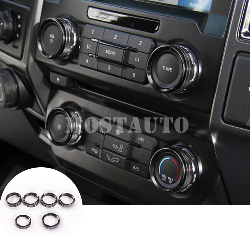 11pcs Inner Gear Box Cover/&Water Cup Decor Trim For Ford F150 F-150 2015-2017