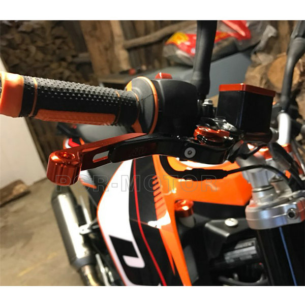 Orange & Black CNC Motorcycle Brakes Clutch Lever For KTM 690 Duke 990 1290 Super Duke R/GT RC8 RC8-R High Quality with logo for ktm 690 duke 990 super duke 1290 super duke rc8 r motorcycle accessories aluminum short brake clutch levers red