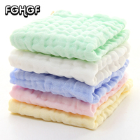 Small   Towel   25*25 Soft 100% Cotton Gauze Hand   Towel   Nursing   Towel   Infant Adults and Children Handkerchief Reusable All Ages