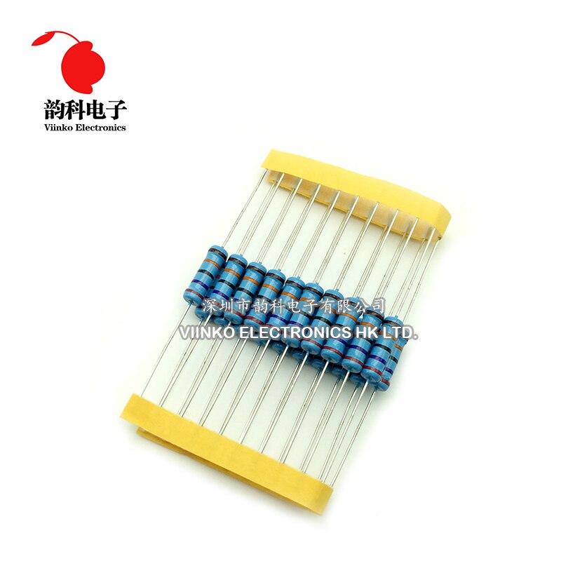 20 piezas-Resistor de película de Metal 2W 1% 0R-2,2 M 0 2,2 10 100 120 150 220 270 330 1K 390 K 10K 15K 470K 2,2 K 1M, 2W ohm