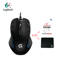 Logitech G300S Wired Gaming Mouse Laptop PC 2500DPI Optical 9 Rechargeable Programmable Button Support Official Test + Free Gift