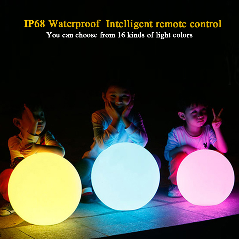 LED glow dome light Diameter 25CM outdoor waterproof rechargeable glowing ball garden lawn lamp creative landing spherical lamp hermle® iron skeleton wall clock