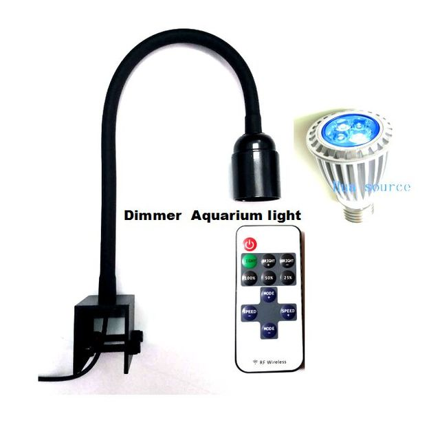 12W Roemote Dimmable Grow Lights for Indoor Plants  Plant Grow Lamp with Red Blue Spectrum with Adjustable Gooseneck