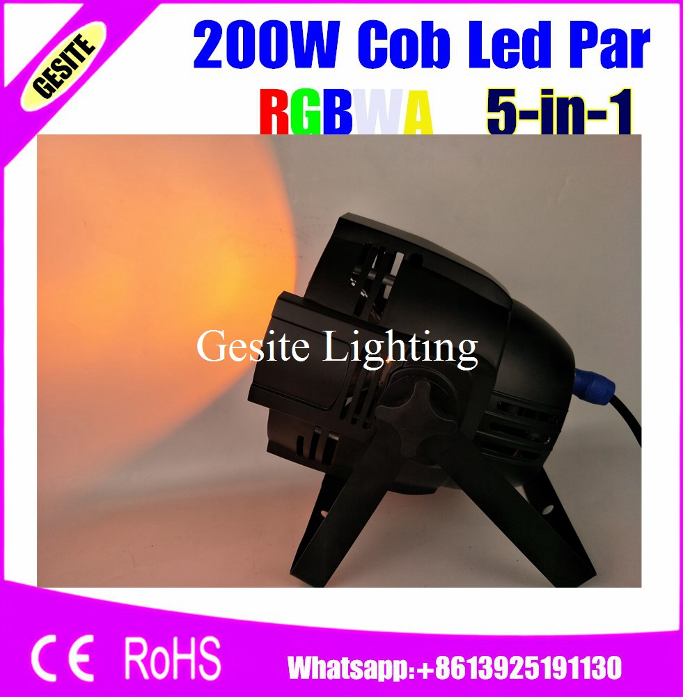 Free Shipping 2pcs/lot 200W RGBWA COB LED Par Light Housing Blacklight COB Led PAR Can With DJ Light Disco Stage Bar Club DMX бит bosch pz1 х89мм 3шт extra hart 2 607 001 581