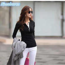 Women Multicolor Tops Tees Spring Summer Casual Ladies Long Sleeves T-Shirt Cotton New Plus Size