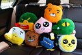 1pc 35cm Korean kakao friend RYAN lion APEACH NEO cat TUBE duck CON plush car bone neck pillow novelty romantic stuffed toy
