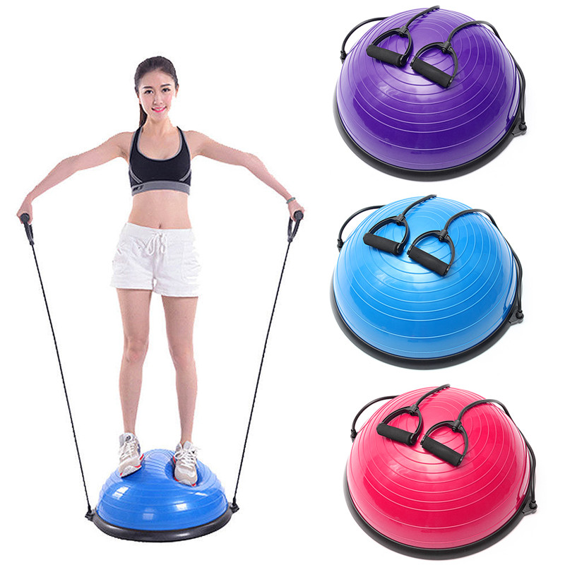 Newest PVC Inflatable Fitness Ball Balancing Balls Yoga Half Ball Balance Trainer Fitness Strength Exercise Gym Pilates ball new yoga pilates exercise high density eva foam massage roller fitness home gym massage
