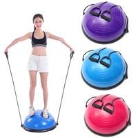 Newest PVC Inflatable Fitness Ball Balancing Balls Yoga Half Ball Balance Trainer Fitness Strength Exercise Gym Pilates ball