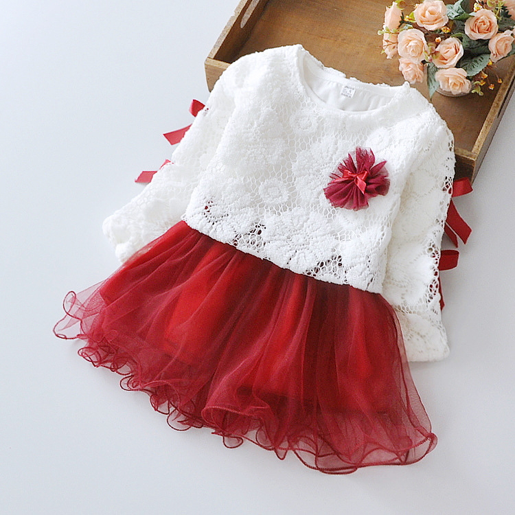 69a9c6ac25 2017 new baby spring autumn dress girl dress princess children two sets of  flowers blossom girls 1T 3T free shiping-in Dresses from Mother   Kids on  ...