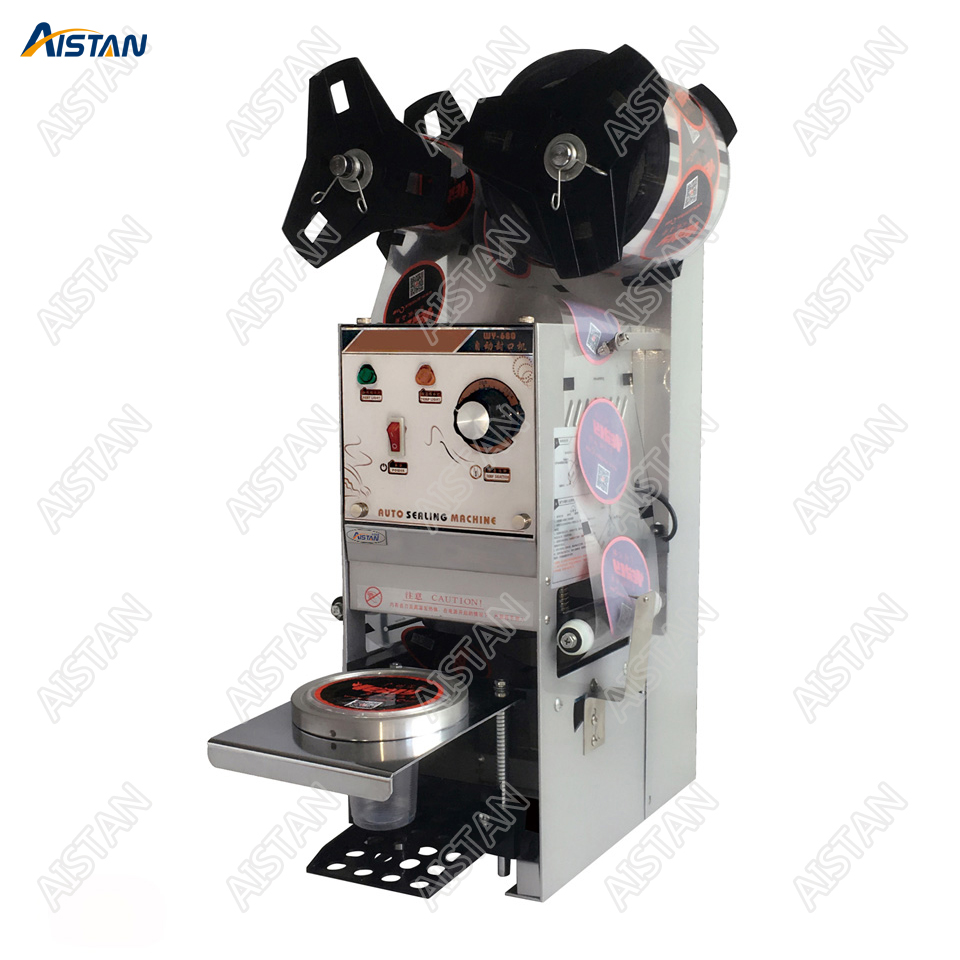 WY680 electric cup bottle sealing machine  desktop automatic for Milk tea shop coffee bar