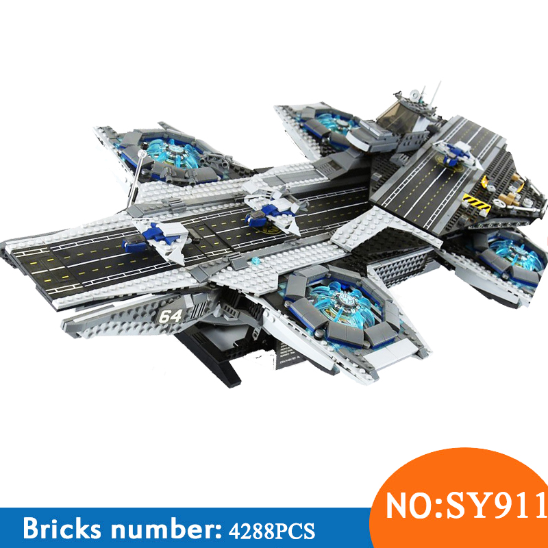 SY911 Super Heroes series the Shield Helicarrier Model Building Blocks set Compatible with 76042 Classic Toys for children single sale pirate suit batman bruce wayne classic tv batcave super heroes minifigures model building blocks kids toys gifts