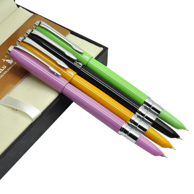 12pcs/lot  Fountain pen  Or RollerBall pen 4 Colors to choose  KAIGELU 317 office and school stationery pens  Free  Shipping 8pcs lot wholesale fountain pen black m 14 k solid gold nib or rollerball pen picasso 89 big executive stationery free shipping