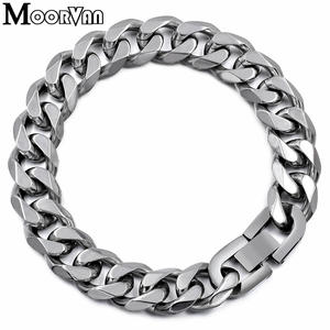 Moorvan Jewelry Men Stainless Steel Bracelet for Male