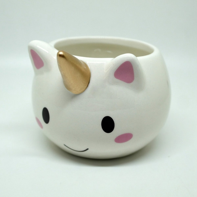 Magical Horse Coffee Milk Tea Cup Ceramic Cup 3D Golden Horned ...