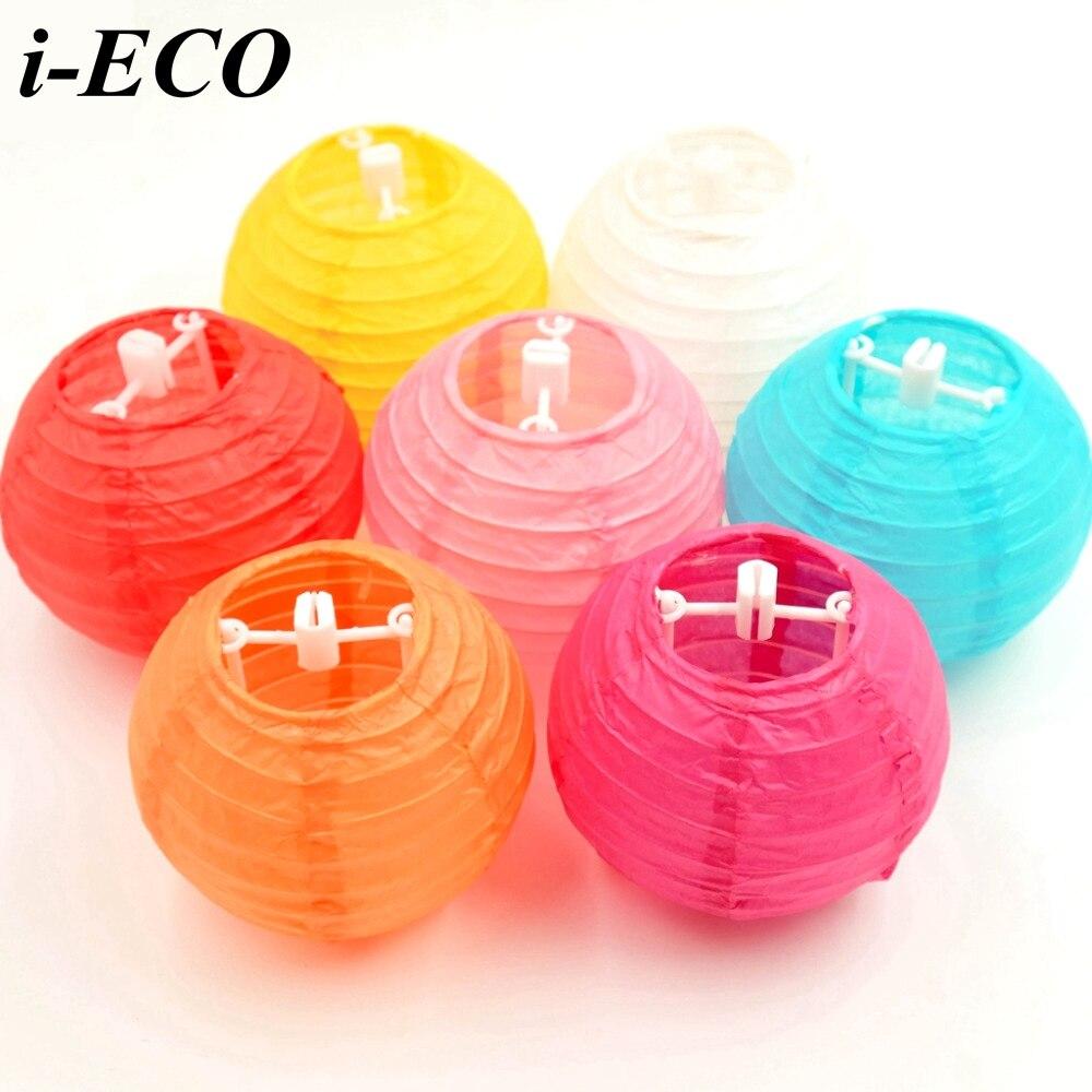 10PCS 6inch Colorful Chinese Paper Lantern Paper Lampion Ball DIY ...