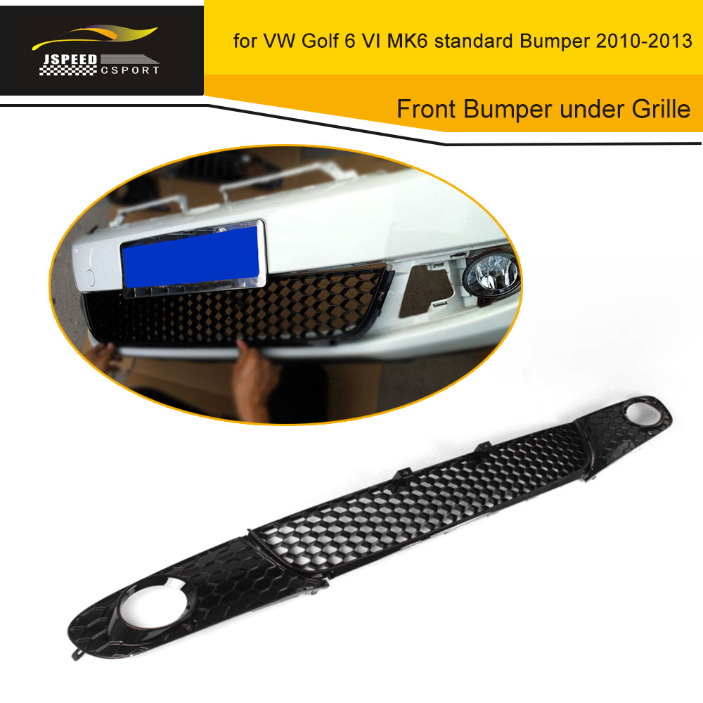 3PCS Front Bumper under Grille Fog Light Mesh Grill Covers for Volkswagen VW Golf 6 VI MK6 standard Bumper 2010-2013 ABS Black for 10 14 vw golf tdi jetta mk6 honeycomb mesh lower front grille grill abs usa domestic free shipping hot selling