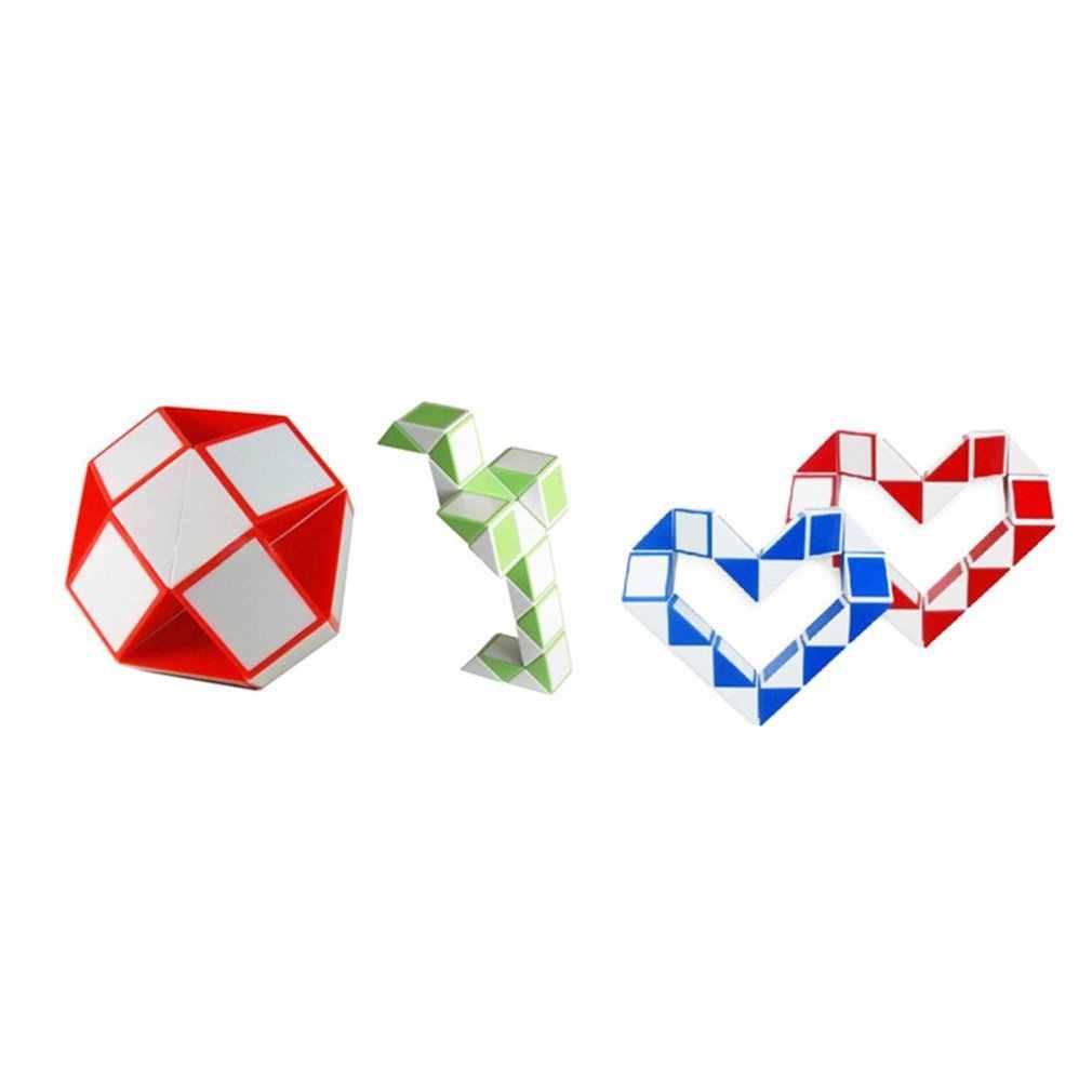 24 takozlar Sihirli Cetvel Küp Mini Sihirli Büküm Bulmaca Küp Oyunu Bükülen Oyuncak Eğitim Küpü Oyuncak Hediye Çocuk Yetişkin için sihirli Cetvel