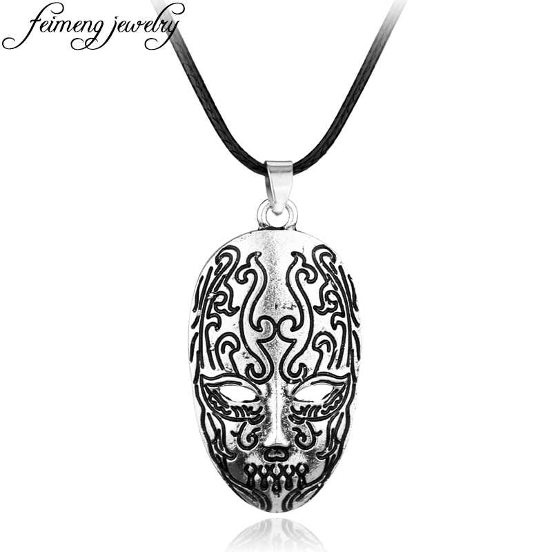 feimeng jewelry Bellatrix Lestrange Death Eater Mask Necklace Knights of  Walpurgis Vintage Silvery Pendant For Women