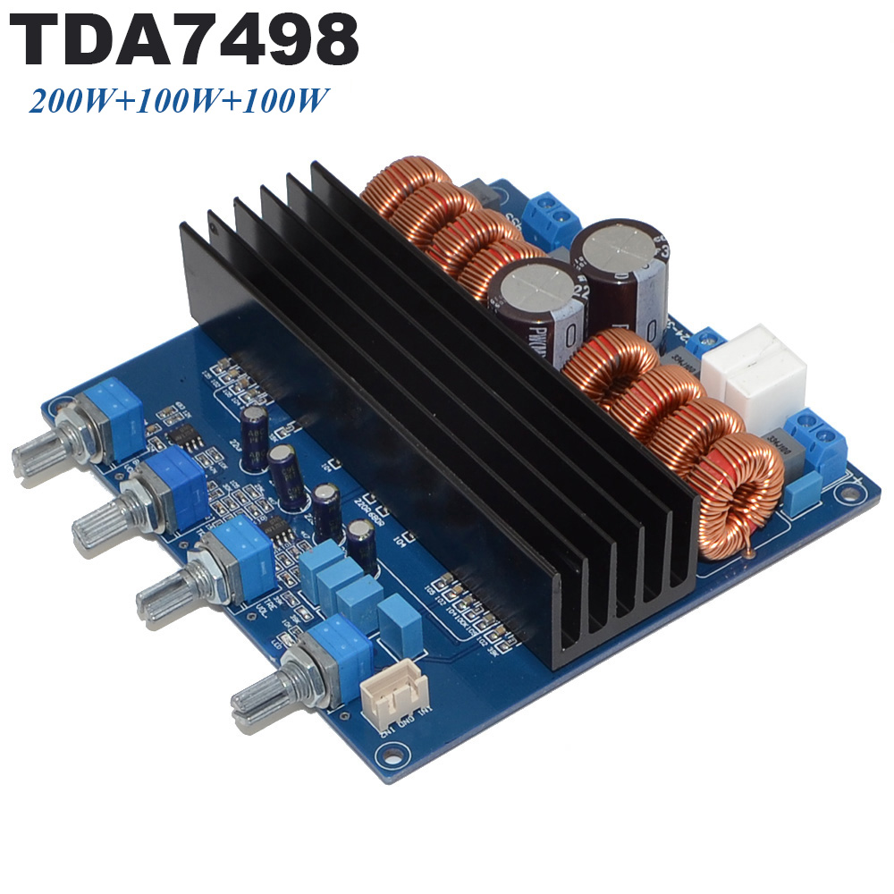 TDA7498 2.1 DC24V-32V Class D 3 Channel 200W+100W+100W Digital Amplifier Board Free Shipping with Track Number 12003201 цены
