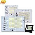 As Lâmpadas LED SMD Chip IC Inteligente 220 V 10 W 20 W 30 W 50 W 90 W Para O Exterior holofote Branco Frio/Quente Branco